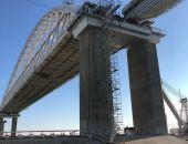 Железнодорожную арку Крымского моста соединили с пролётом в сторону Керчи