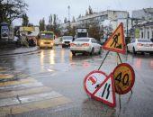 В Феодосии ремонтируют дорогу:фоторепортаж