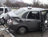 Сегодня в Крыму в ДТП на трассе Ялта – Севастополь пострадали три человека (фото) (видео)