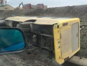 Под Симферополем два ДТП: автобус и грузовик вылетели на обочину