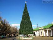 В Феодосии продолжаются работы по установке главной елки города