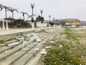В Коктебеле вандалы разрушили ограждения на набережной :фоторепортаж