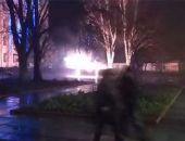 В Керчи из-за короткого замыкания гирлянды загорелась новогодняя ёлка (видео)