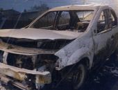 В Симферополе этой ночью сгорела иномарка, причины неизвестны