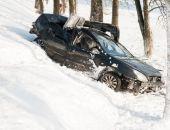 В Крыму участковые вытащили из кювета автомобиль с водителем в обмороке