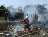 В Феодосии сгорел дом