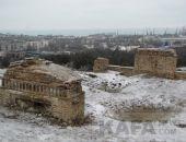Тепе-оба в снегу:фоторепортаж