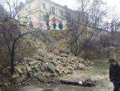 В Крыму после дождей массово рушатся подпорные стены (фоторепортаж)