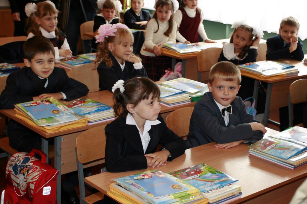 первый урок в школе знакомство с детьми