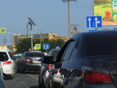 Автомобильные пробки на Керченском шоссе