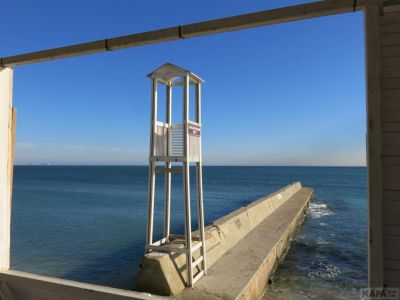 Феодосия в декабре: море шумит (видео)